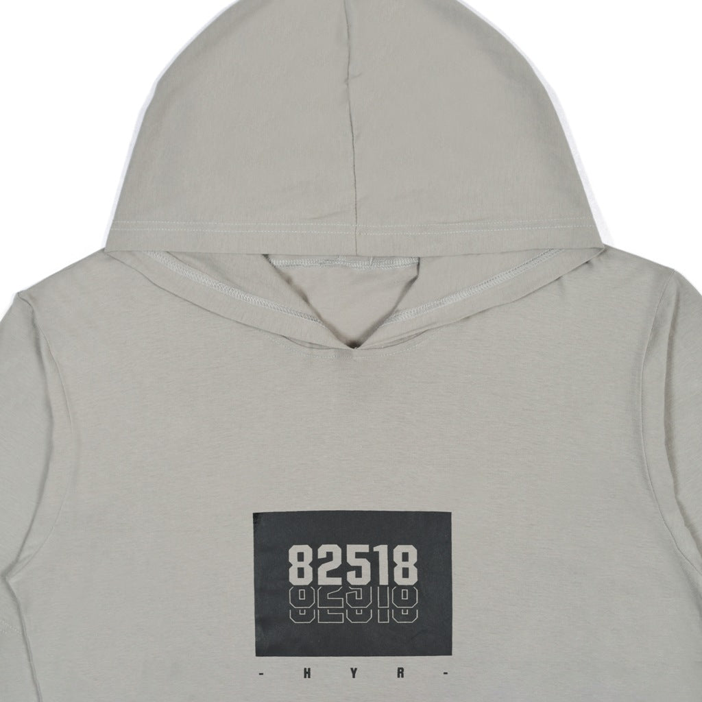 85218 BOX GREY DARK GRAPHIC T-SHIRT HOODIE
