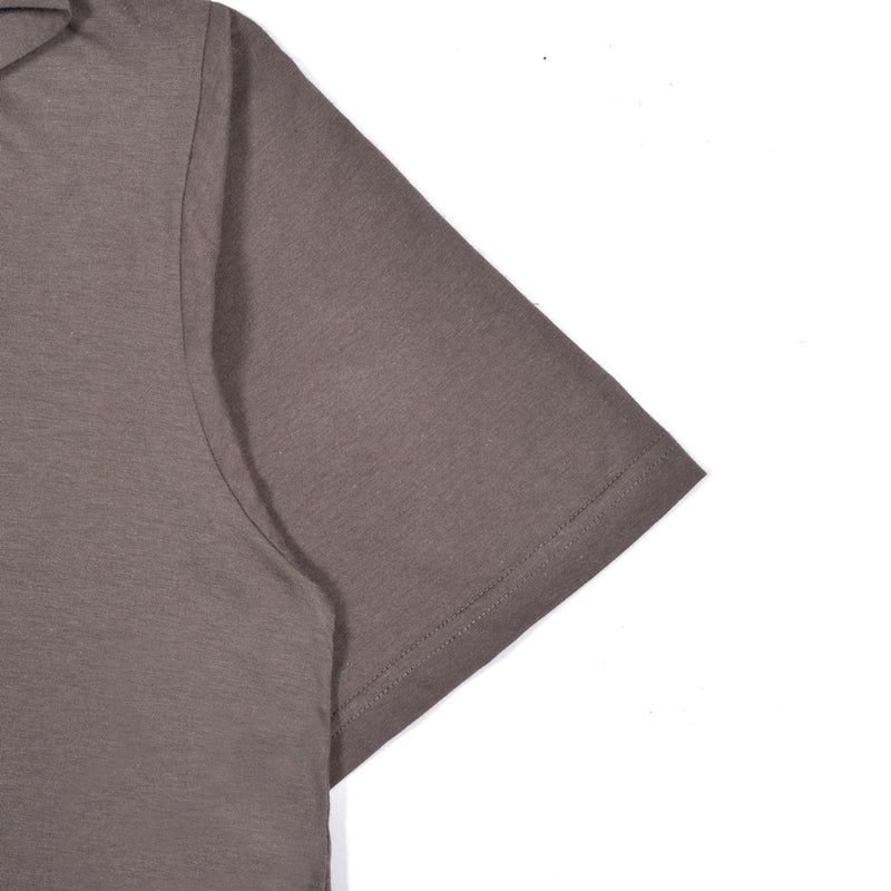 85218 GREY BROWN GRAPHIC T-SHIRT HOODIE