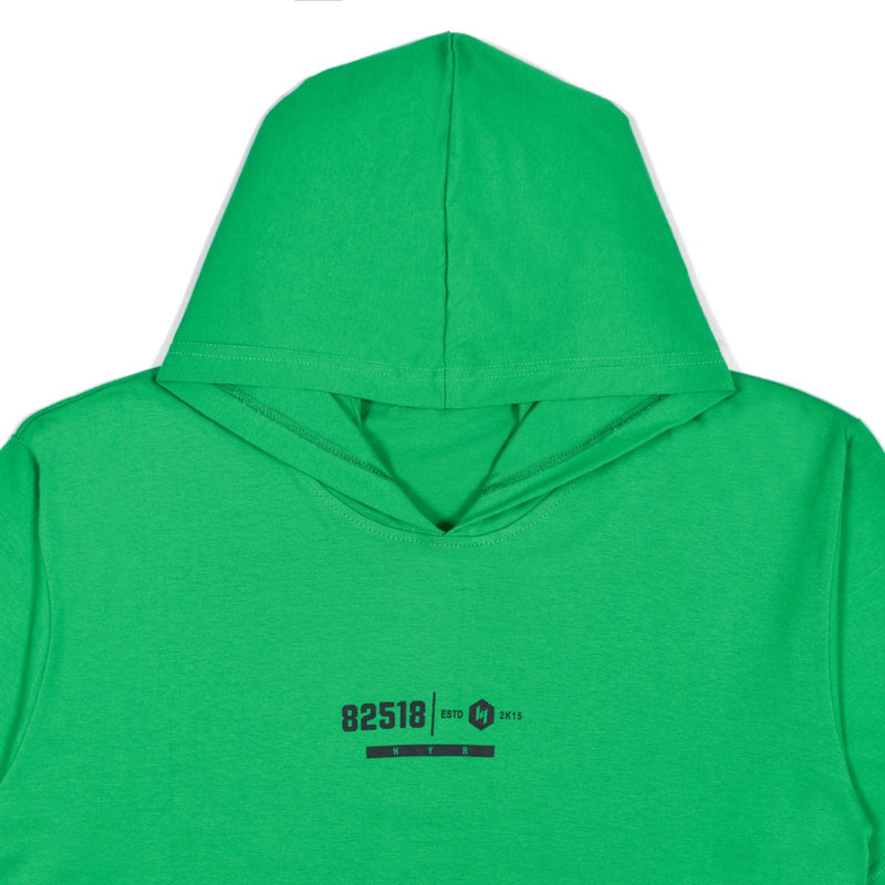 85218 DARK GREEN GRAPHIC T-SHIRT HOODIE