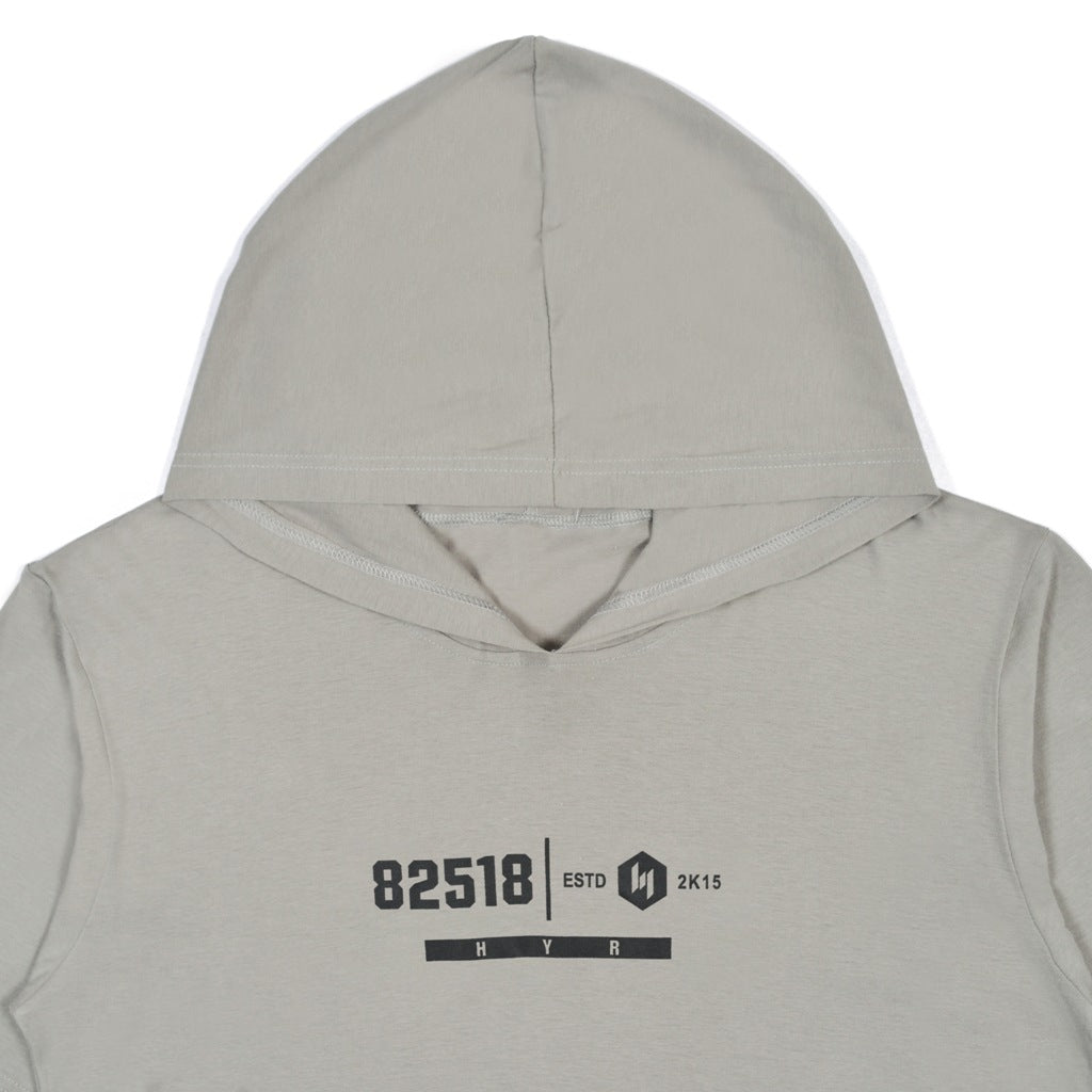 85218 GREY DARK GRAPHIC T-SHIRT HOODIE