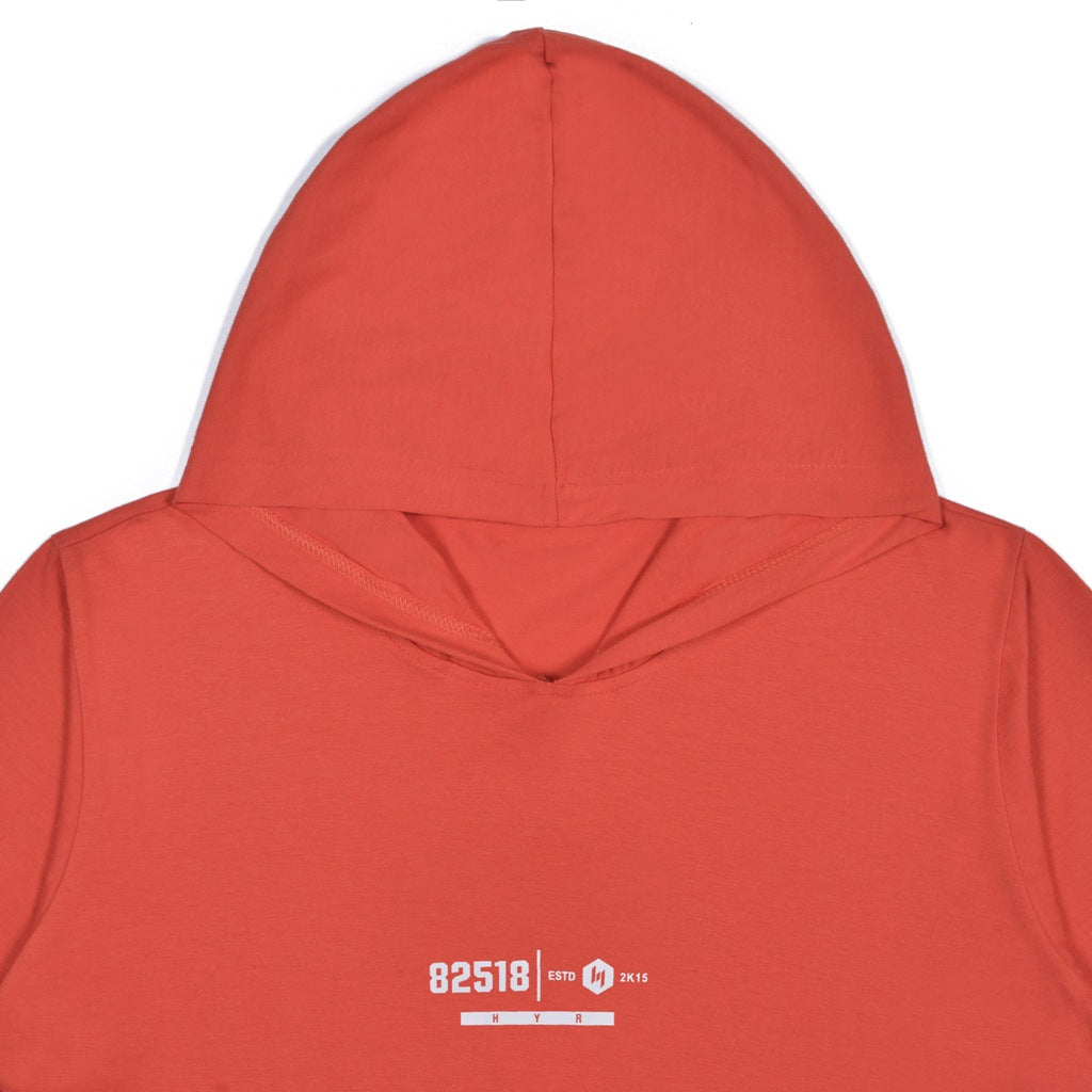 85218 RED GRAPHIC T-SHIRT HOODIE