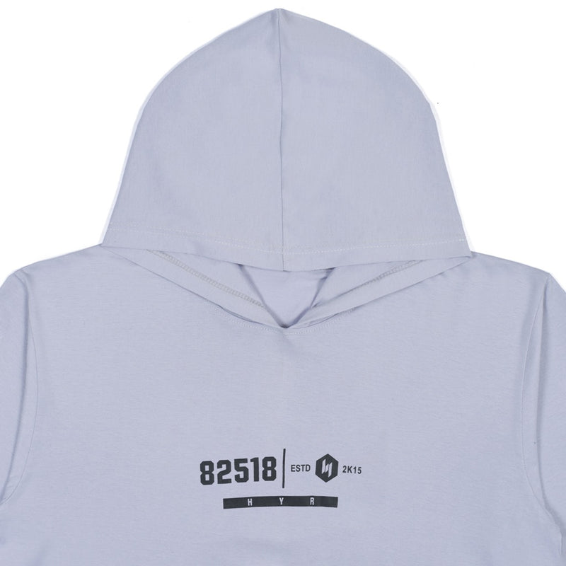85218 GREY GRAPHIC T-SHIRT HOODIE