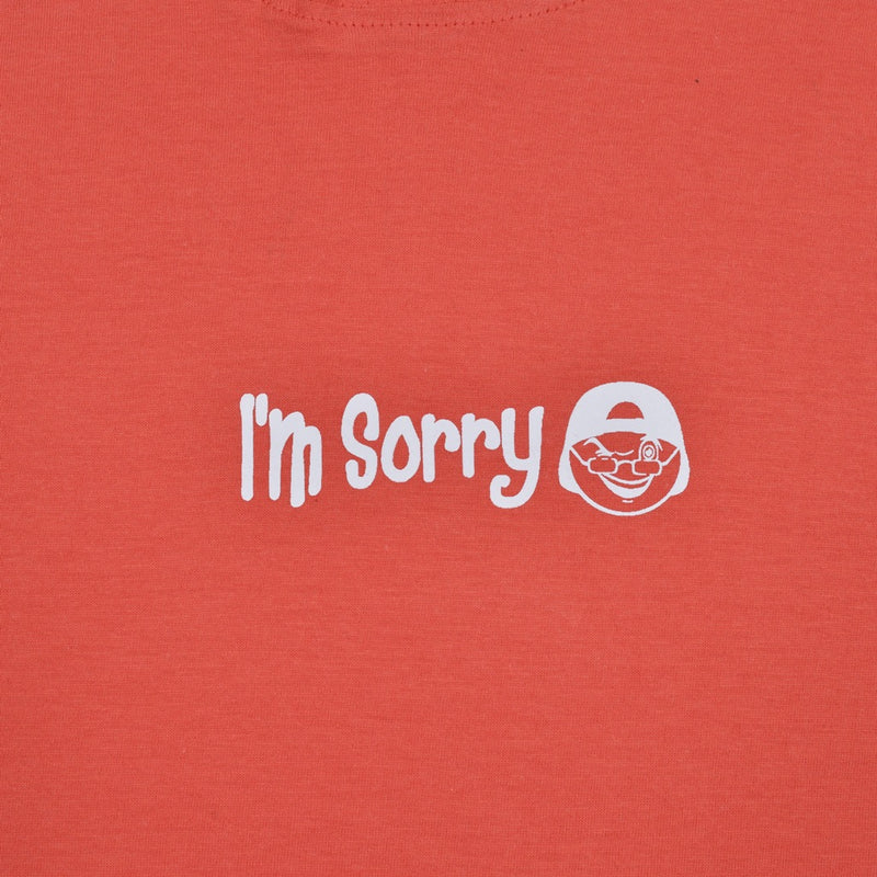 I'M SORRY RED GRAPHIC T-SHIRT HOODIE