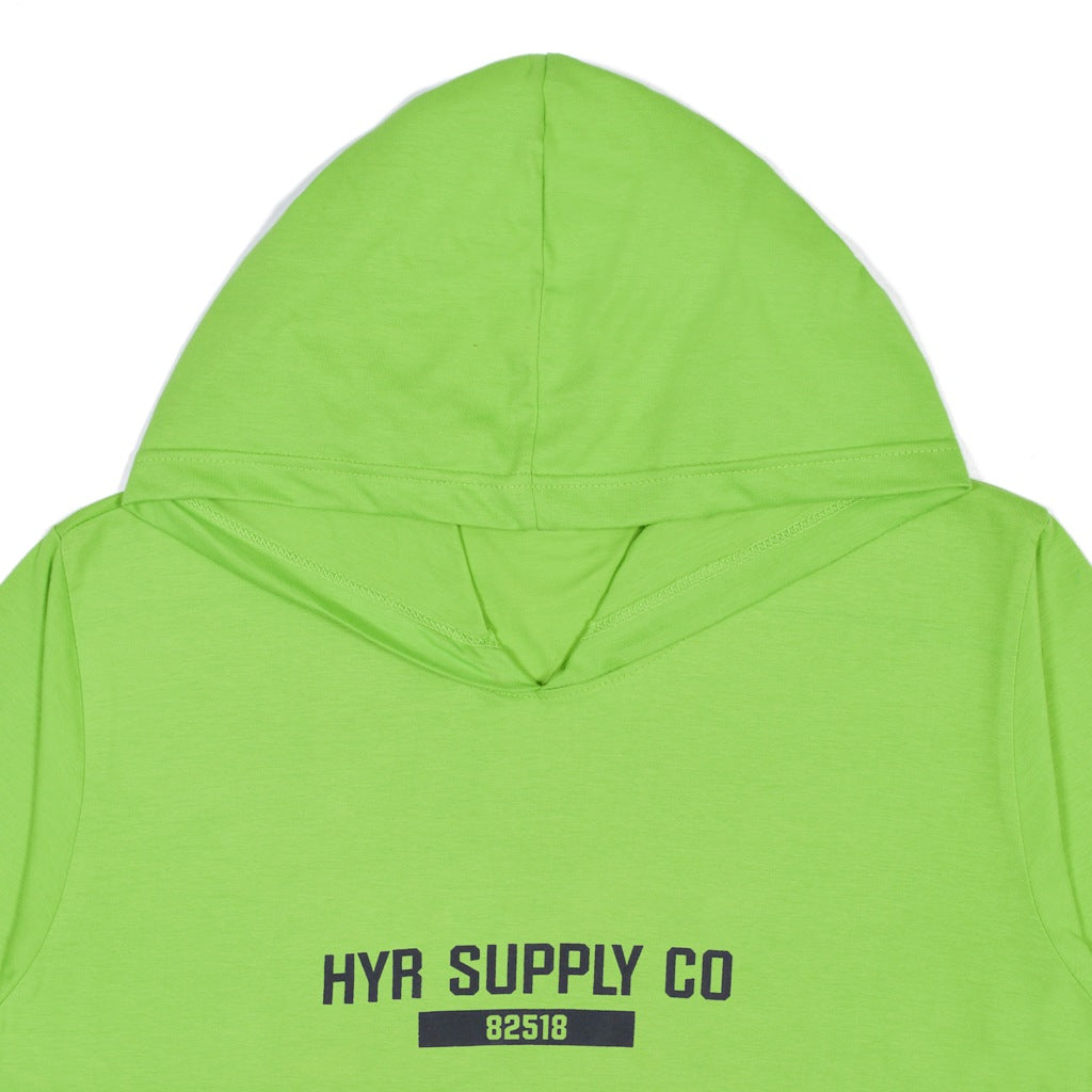 SUPPLY CO GREEN GRAPHIC T-SHIRT HOODIE