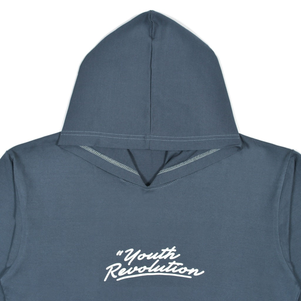 YOUTH REVOLUTION NAVY GRAPHIC T-SHIRT HOODIE