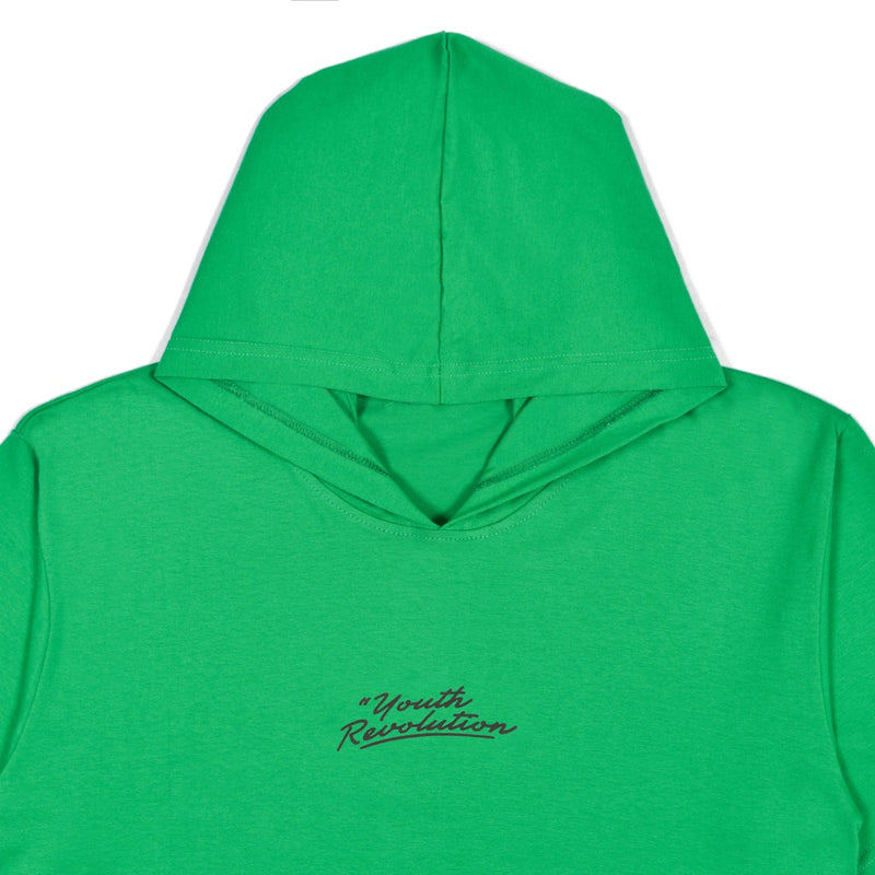 YOUTH REVOLUTION DARK GREEN GRAPHIC T-SHIRT HOODIE