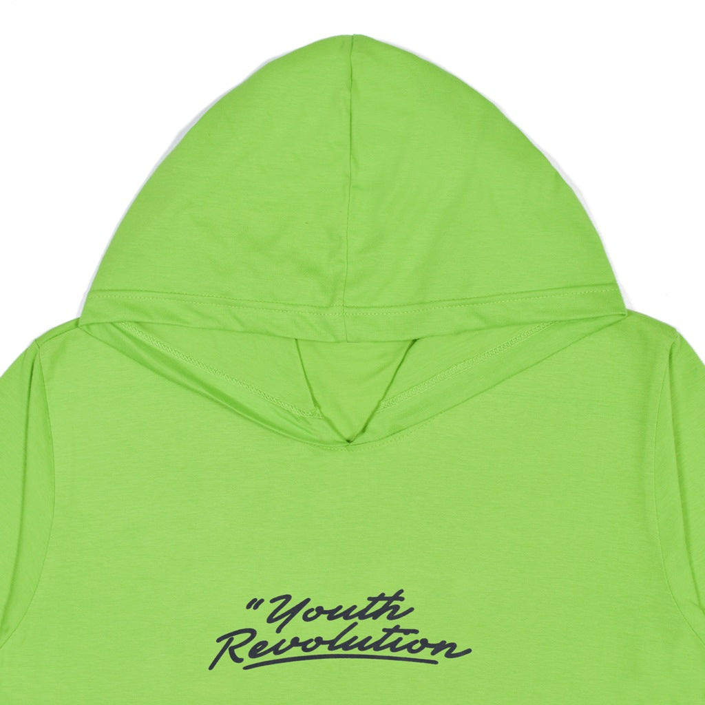 YOUTH REVOLUTION GREEN GRAPHIC T-SHIRT HOODIE