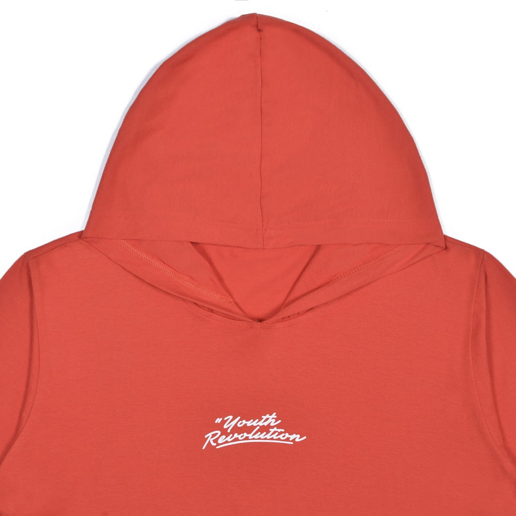 YOUTH REVOLUTION RED GRAPHIC T-SHIRT HOODIE