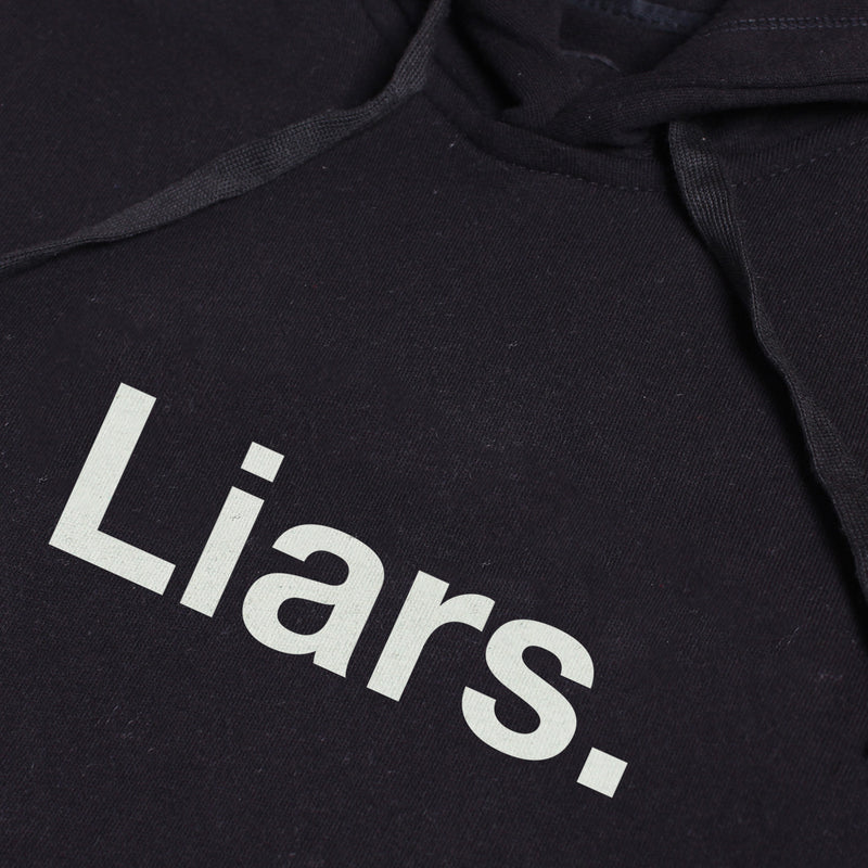LIARS BLACK GRAPHIC PULLOVER HOODIE
