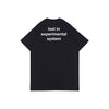 LOST IN EXPERIMENTAL SYSTEM BLACK HW GRAPHIC OVERSIZED TEES