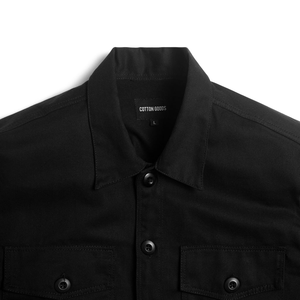 PHILO BLACK LONGSLEEVE OVERSHIRT