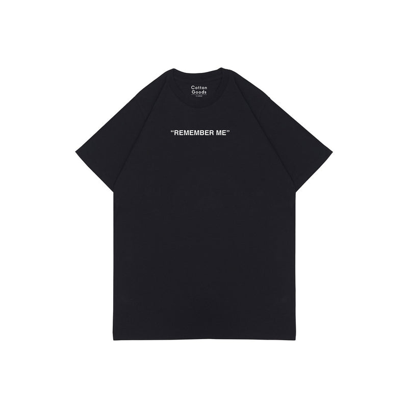 REMEMBER ME BLACK HW GRAPHIC OVERSIZED TEES