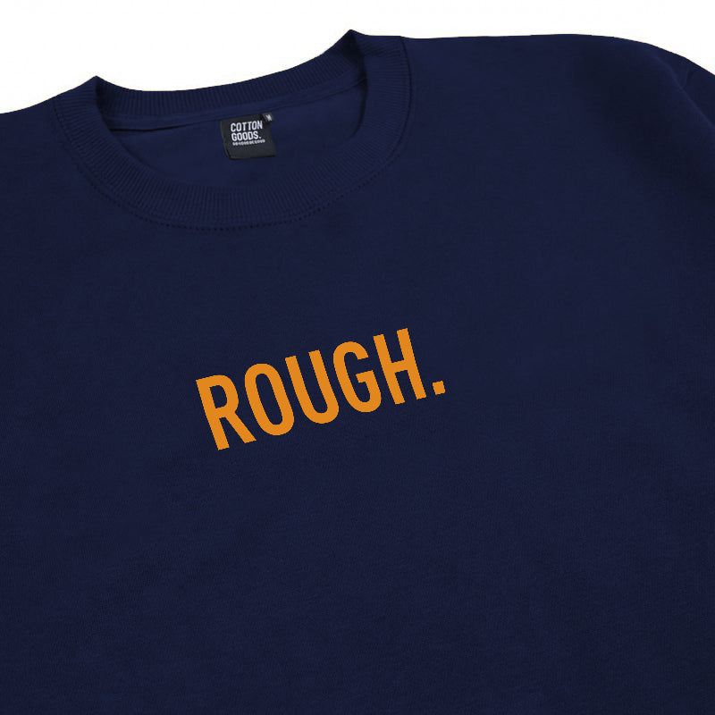 ROUGH NAVY GRAPHIC CREWNECK