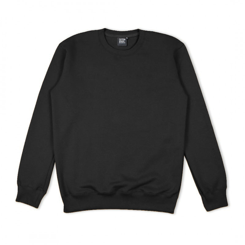 RUSSO BLACK OVERSIZED CREWNECK