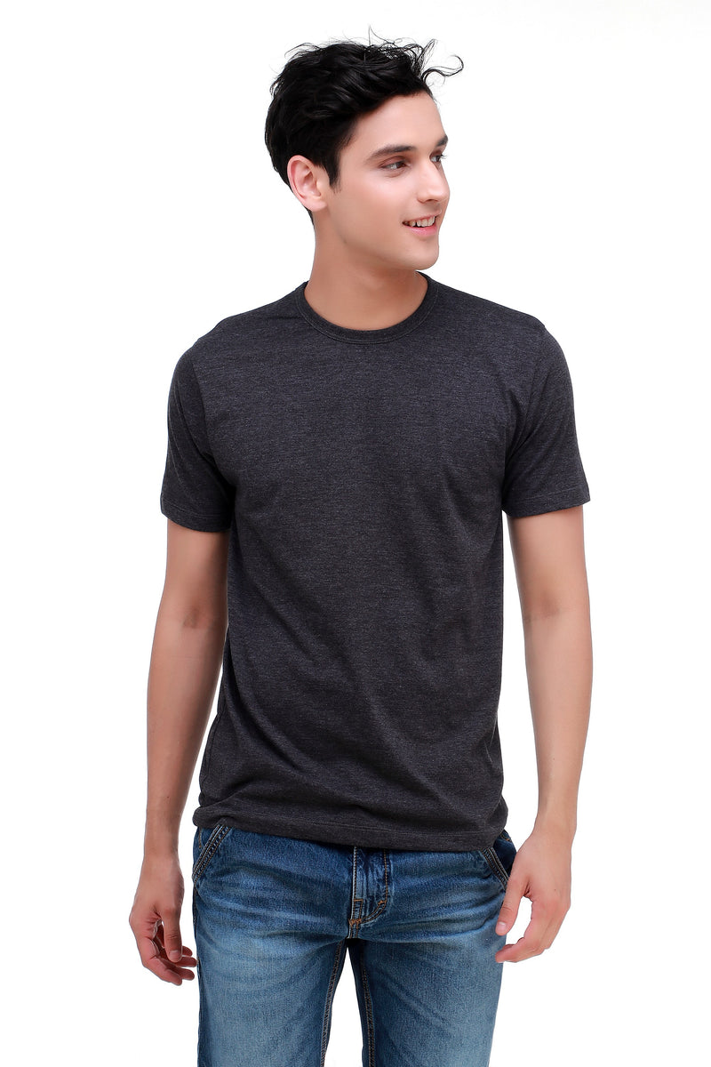 TERZO DARK GREY BASIC TEES