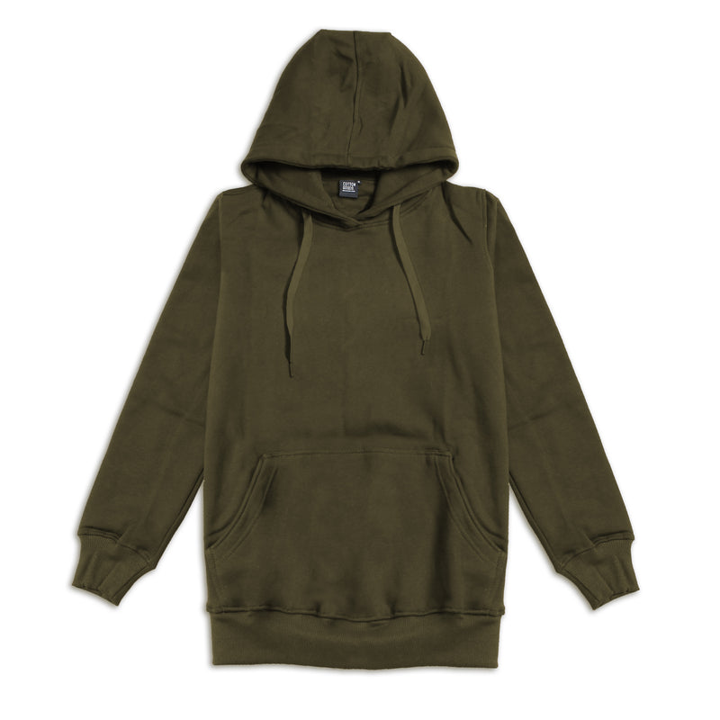 YUAN OLIVE PULLOVER HOODIE