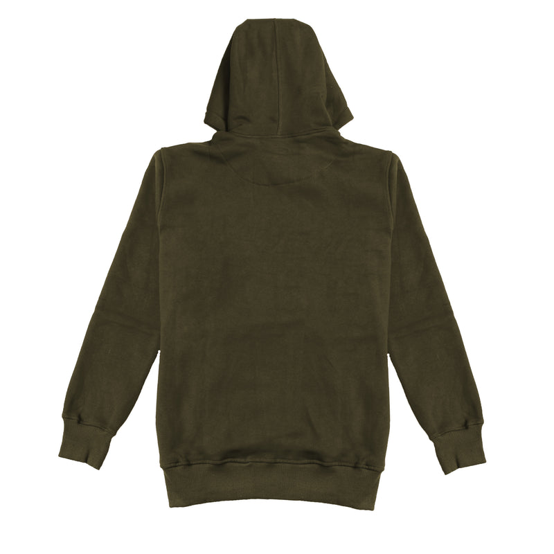 YUAN OLIVE FULLOVER OVERSIZED HOODIE