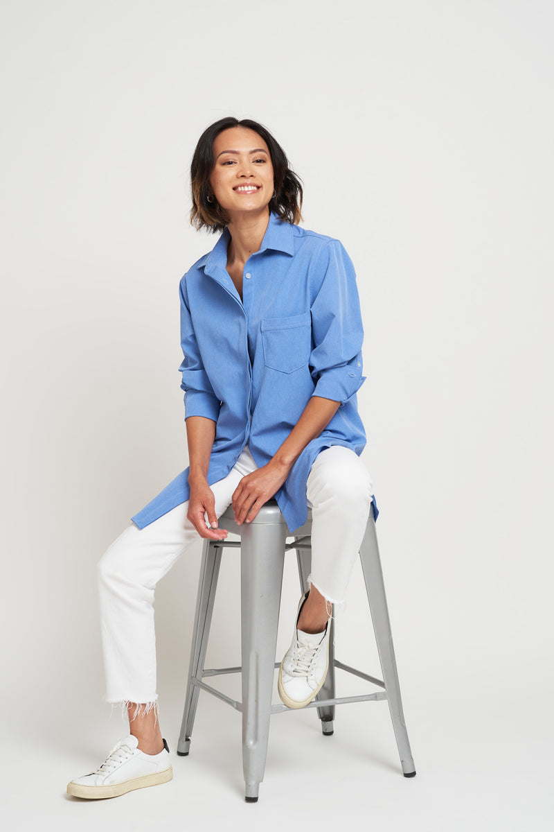 San Ramon Boyfriend Shirt - Chambray