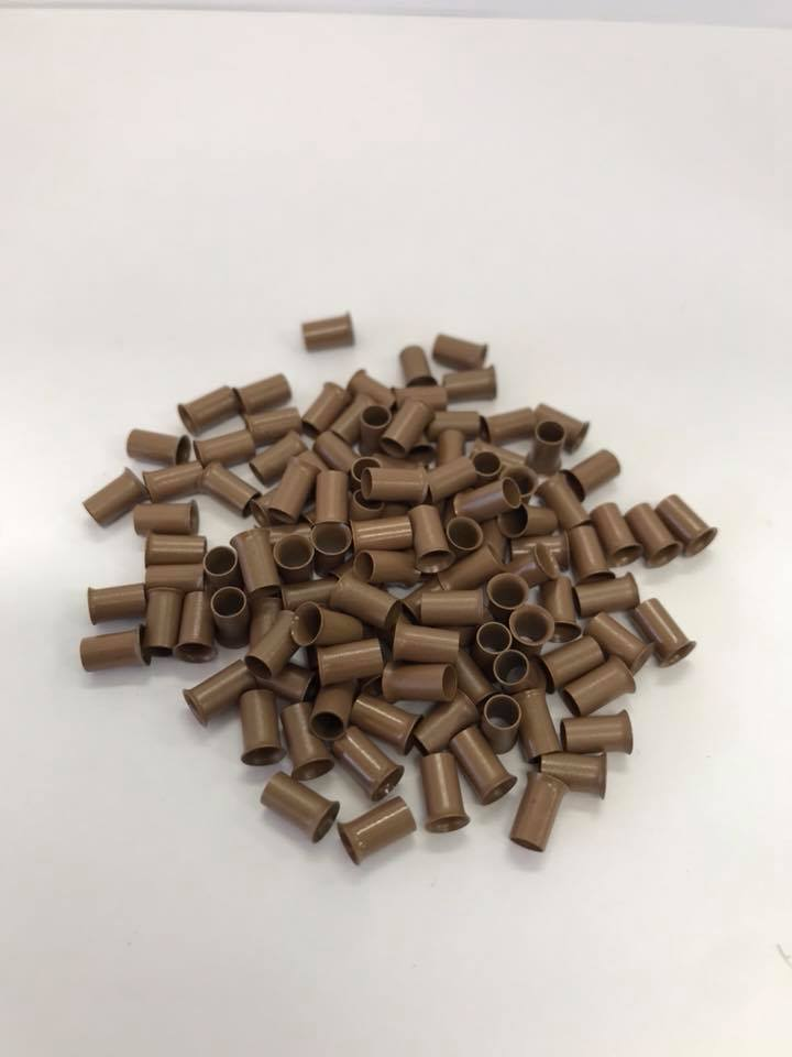 COPPER BEADS 4mm Quality Material I Tip Hair Extensions Australia