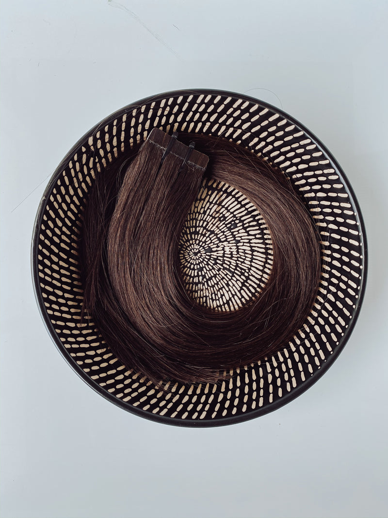 WEFT HAIR-2-Medium brown 24inch