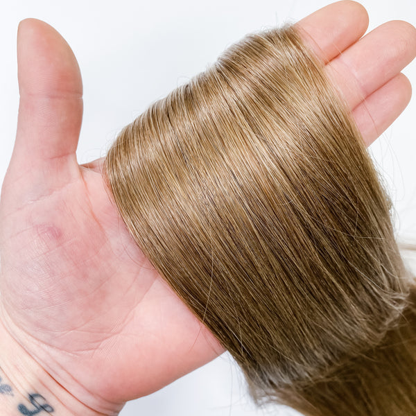 TAPE IN HAIR EXTENSIONS-6a-Light Brown natural