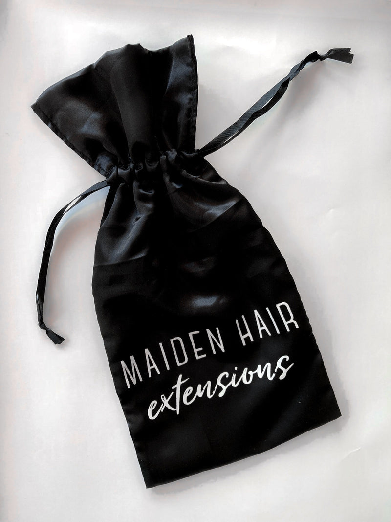 Hair Extensions Silk Pouch - Maiden Hair Extensions Custom Silk Bag