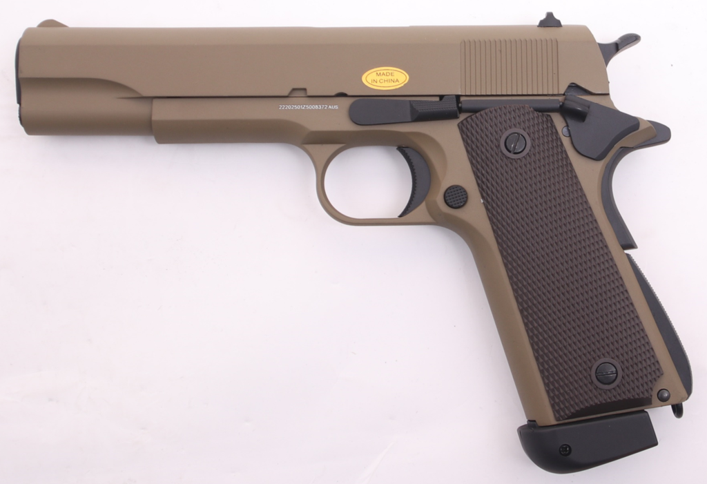 Golden Eagle GM1911 Full Metal Tan Green Gas or C02