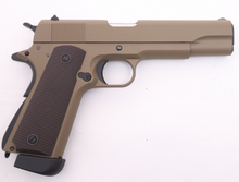 Load image into Gallery viewer, Golden Eagle GM1911 Full Metal Tan Green Gas or C02