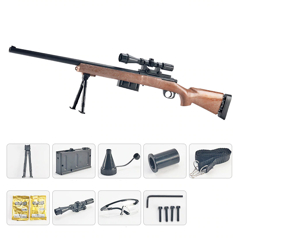 GANG JIANG M24 BOLT ACTION SNIPER GEL BLASTER – WOOD