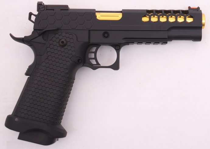 Golden Eagle Full Metal CNC Hex Cut 1911 HI CAPA 5.1 Green Gas