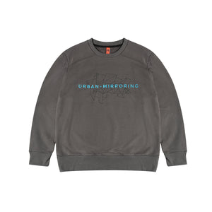 Urban Mirroring-KON Embroidery Sweater