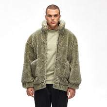 Load image into Gallery viewer, The Grey Zone - KON FW2019 furry coat