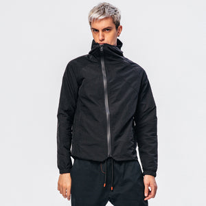 Inclined zipper waterproof coat