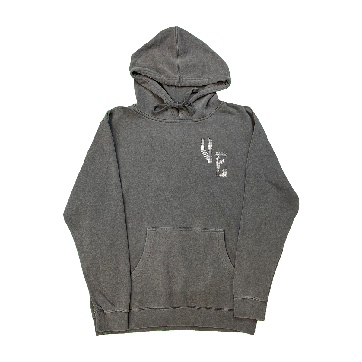 Fallen Angel Hoodie- Washed Grey