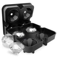 Diamond-Shaped Silicone Ice Cube Tray with Easy Release