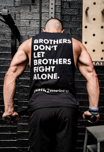 #talk2mebro Singlet - Black
