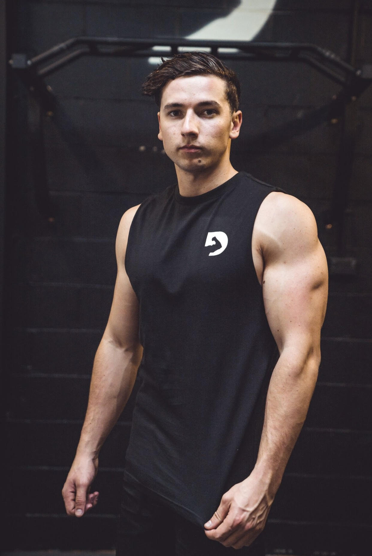 #talk2mebro Mens Muscle Tee - Black