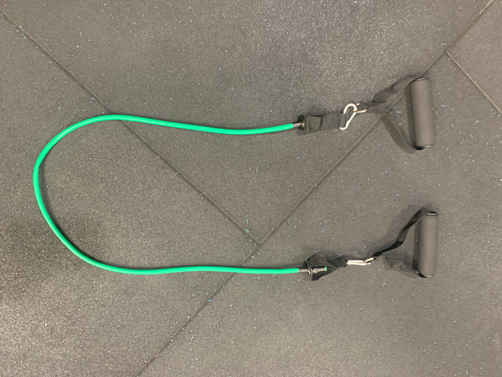 Green Resistance Band with Handles