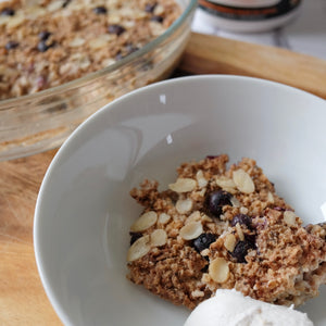 Vanilla and Blueberry Baked Oats