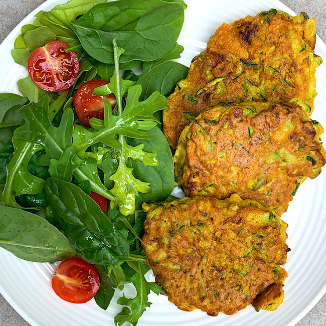 Clean Courgette Fritters