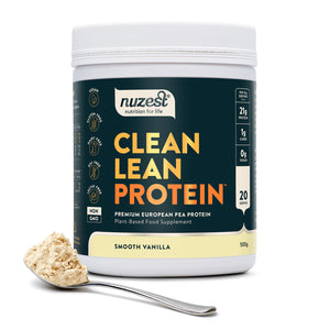 Clean Lean Protein Smooth Vanilla, Organic Pea Protein 500g