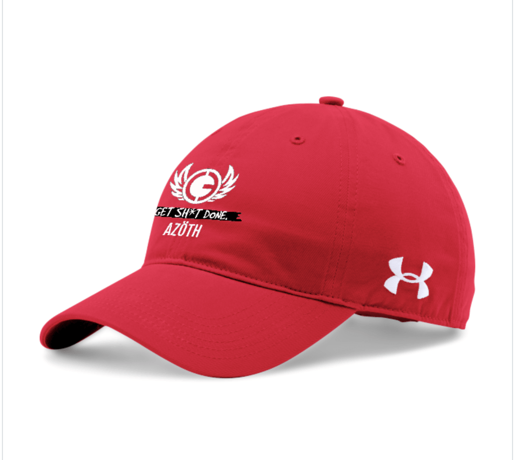 UA CHINO ADJUSTABLE CAP (RED) - AZOTH