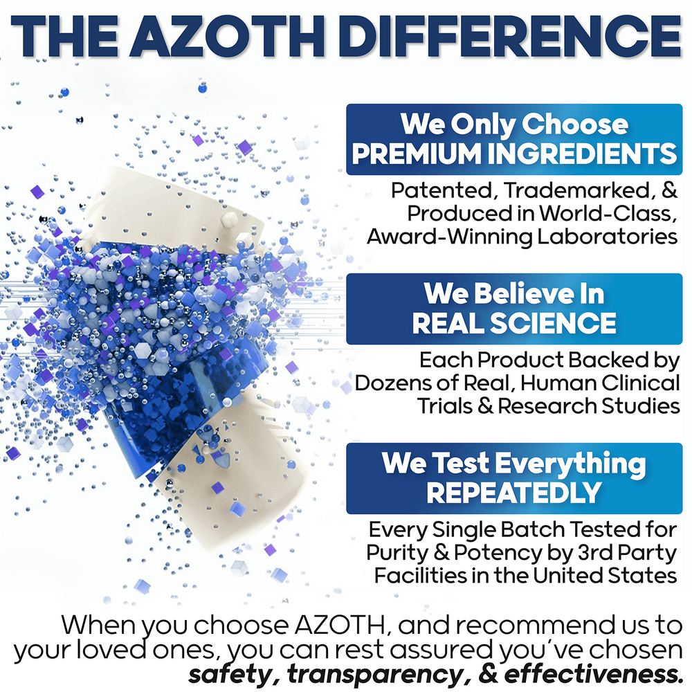 AZOTH TOTAL MEMORY - Stop Forgetting - Improve Memory Retention, Brain Fog, Recall, & Memory Decline