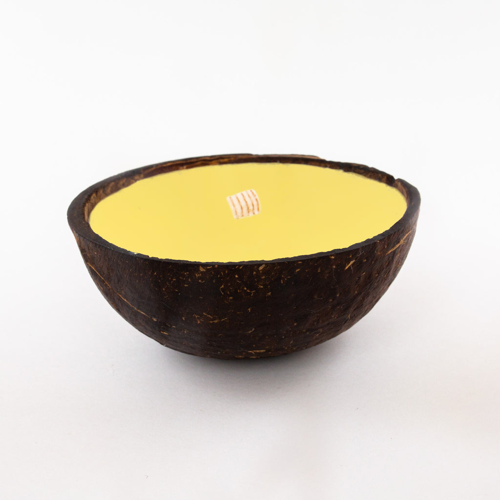 Half Coconut Candle - Citronella