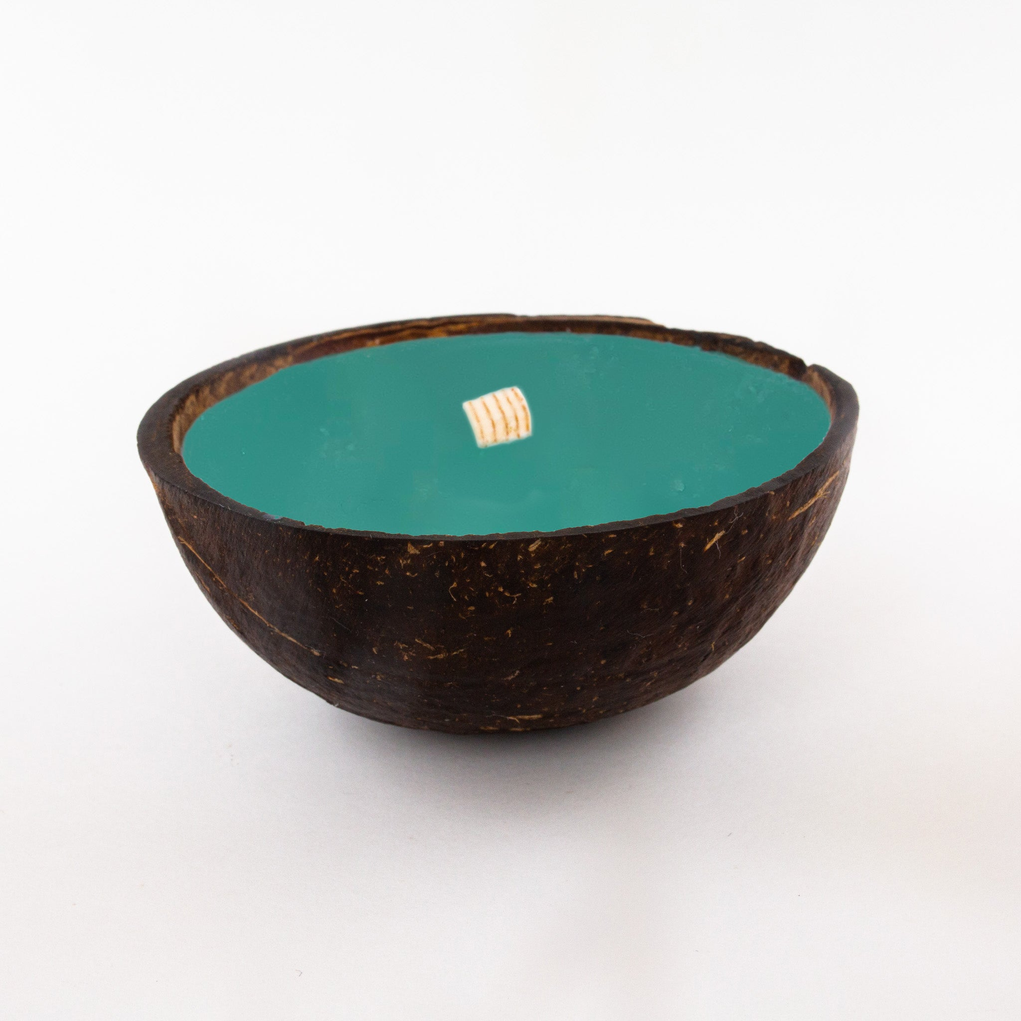Half Coconut Candle - Woodsy