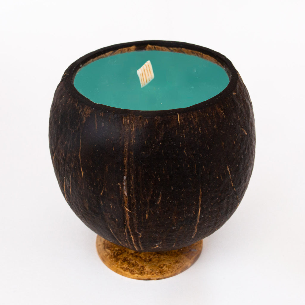 Whole Coconut Candle - Woodsy