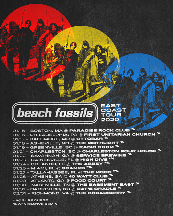 Negative Gemini Announces East Coast Tour Supporting Beach Fossils