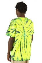 Load image into Gallery viewer, 100% Electronica Green Tie Dye Tee - SS20 - 100% Electronica