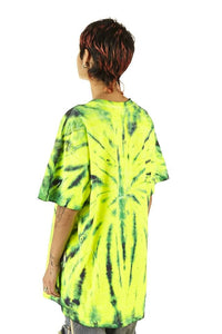 100% Electronica Green Tie Dye Tee - SS20 - 100% Electronica