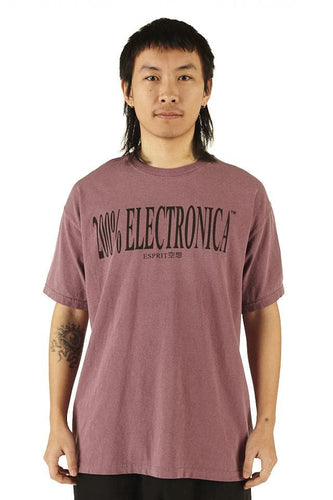 ESPRIT空想 200% Electronica Purple Logo Tee - SS20 - 100% Electronica